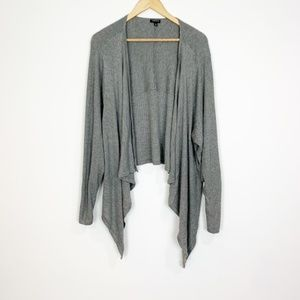 torrid Gray Waterfall Open Front Cardigan Size 4